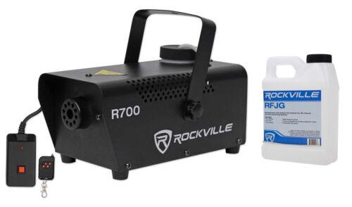 Rockville R700 Fog/Smoke Machine w/ Remote+Fluid Quick Heatup, Thick Fog