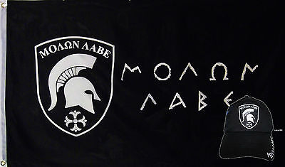 Großhandel Combo 3x5 Griechisch Come Take Flagge & Molon Labe Black Shadow