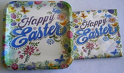 EASTER Paper Plates and Luncheon Napkins  HAPPY - Easter Plates And Napkins