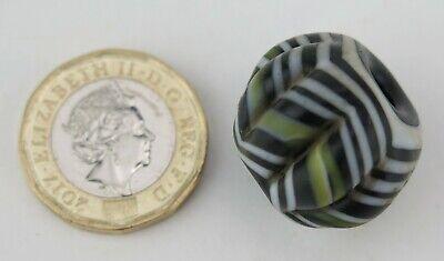 Ethnographic Phoenician glass layered melon trade bead