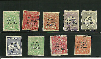 NWPI  11,12,17,19,29,30,40,41,43  Lot of 9 Mint and Used 1915-1922 scarce  8