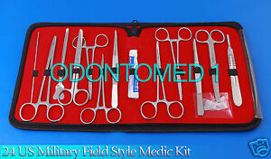 3-SETS-24-US-Military-Field-Style-Medic-Instrument-Kit-Medical-Surgical-Nurse