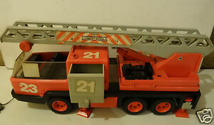 ancien camion pompier playmobil 1981. Black Bedroom Furniture Sets. Home Design Ideas