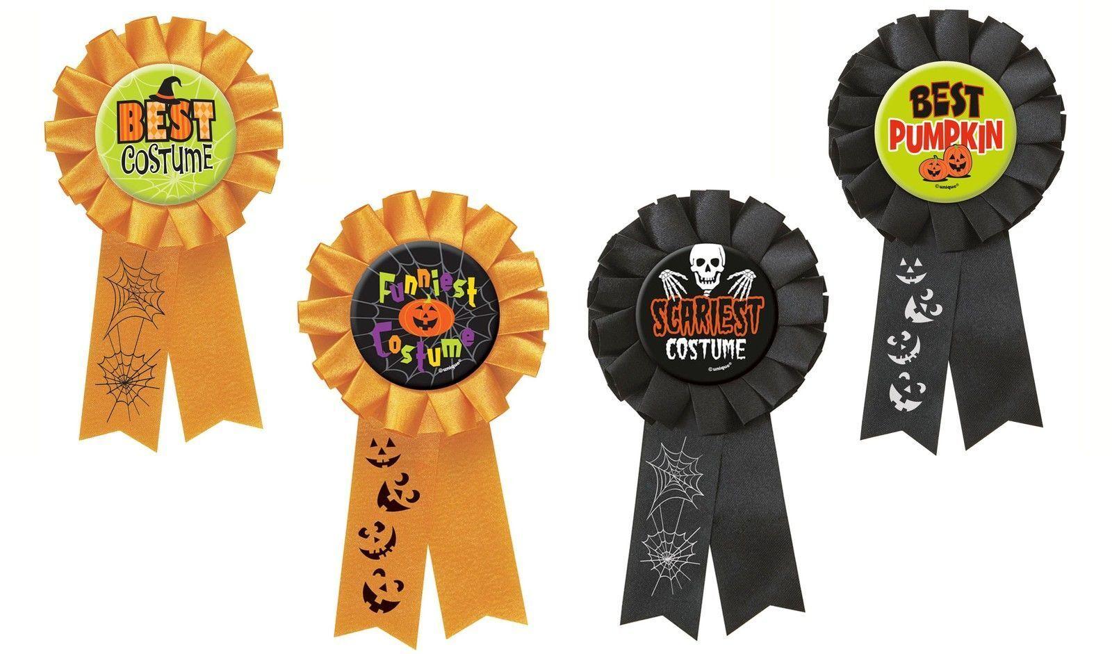 Assorted Halloween Party Award Ribbon