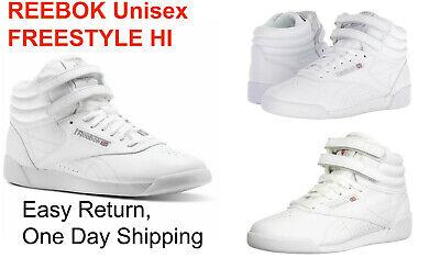 Reebok Freestyle Hi White Leather Hi Top Kids Unisex Fashionable Athletic CN0278