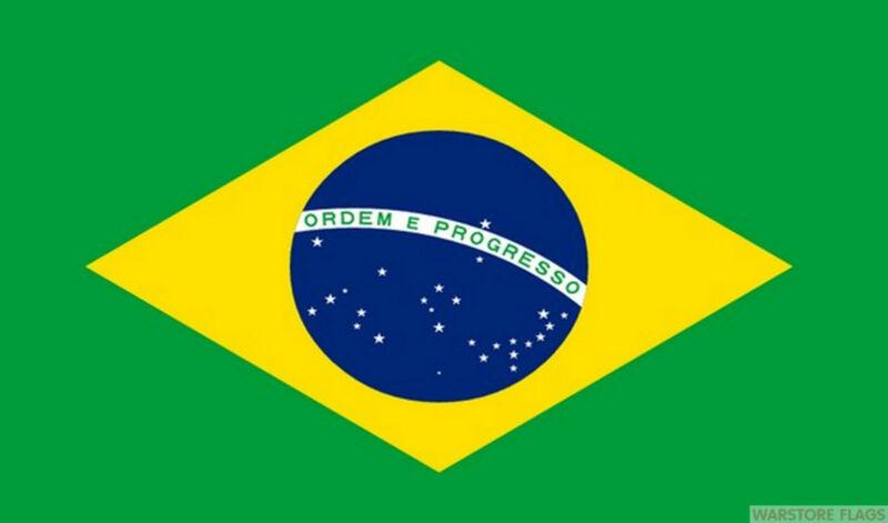 BRAZIL FLAG MASSIVE 8X5 FEET Brazilian SOUTH AMERICA RIO DE JANEIRO
