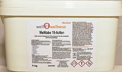 Chlortabletten Chlortabs Chlor Multitabs 10-Action 200g - 6,0 kg Eimer