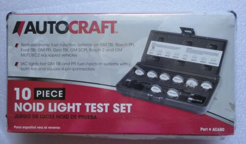 AUTOCRAFT AC680 10 PIECE NOID LIGHT TEST SET ELECTRONIC FUEL INJECTION SYSTEMS