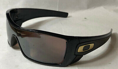 Oakley Men Sunglasses:  Batwolf - Polished Black w/Text - Tungsten Irid Polar