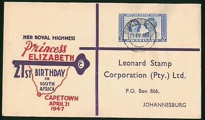 MayfairStamps Swaziland 1947 Princess Elizabeth Visit Royalty Cover wwo61249
