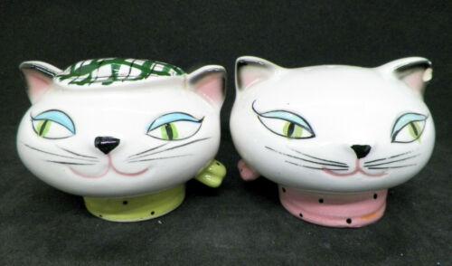 VTG Holt Howard Japan Cozy Kitten Cat Head Salt & Pepper Shakers S&P
