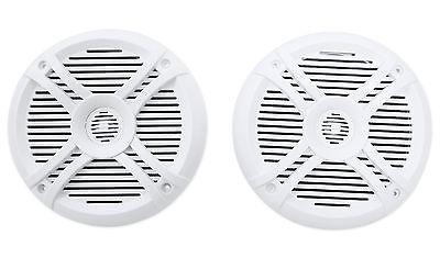 Pair Rockville Rmsts65w 6 5 800 Watt Waterproof Marine Boat Speakers 2 Way White