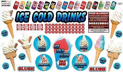 ICE CREAM VAN STICKER, KIT 1, DECAL CUT VINYL UV LAMINATED,