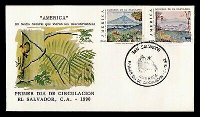 DR WHO 1990 EL SALVADOR FDC AMERICA  C243343