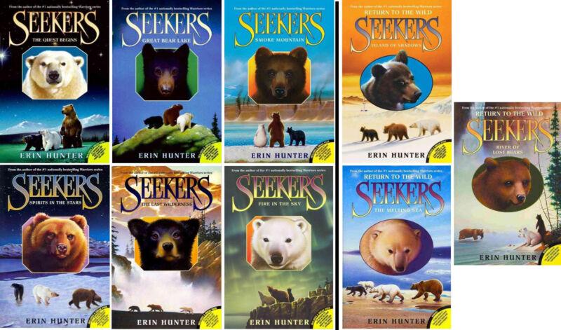 SEEKERS & SEEKERS: RETURN TO THE WILD  9 Book Paperback Set by Erin Hunter