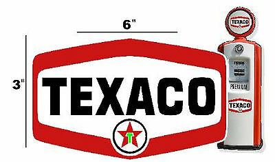 "6"" TEXACO SHIELD GASOLINE DECALS GAS AND OIL (TEXA-12)"