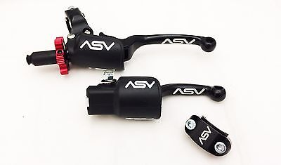 ASV F3 Black Holiday Pro Pack Unbreakable Clutch + Brake Levers CRF 450R 250R
