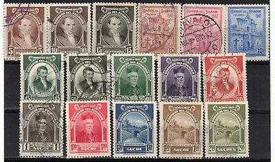 ECUADOR Scott 475-483 C165-171 MH & Used ## 1 cent start ##