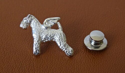 Sterling Silver Lakeland Terrier Angel Lapel Pin