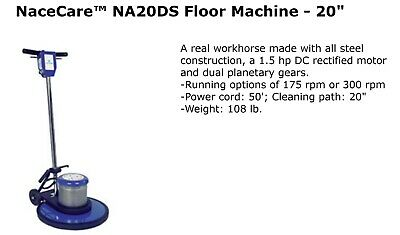 20 2-speed Hp Floor Polisher Scrubber Sander Buffer Cleaning Machine 175300