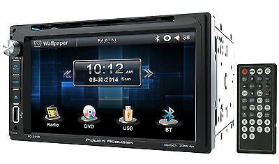 "Power Acoustik PD-651B 6.5"" DVD/CD In Dash Car Monitor Receiver+Bluetooth/USB"