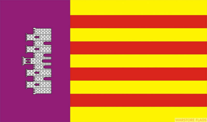 MALLORCA 5x3 feet FLAG 150cm x 90cm flags SPAIN SPANISH BALEARIC ISLANDS