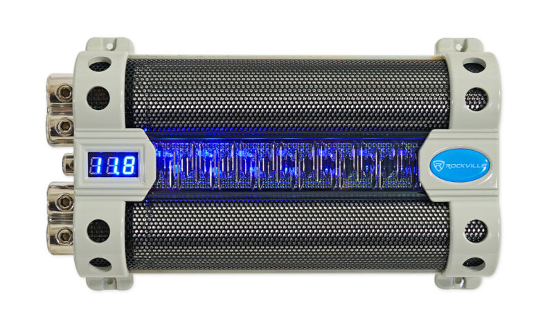 Rockville RFC50F v2 50 Farad Car Audio Capacitor w/ Blue Voltage Display
