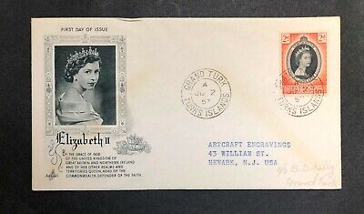 Turks & Caicos 1953 Coronation FDC First Day cover