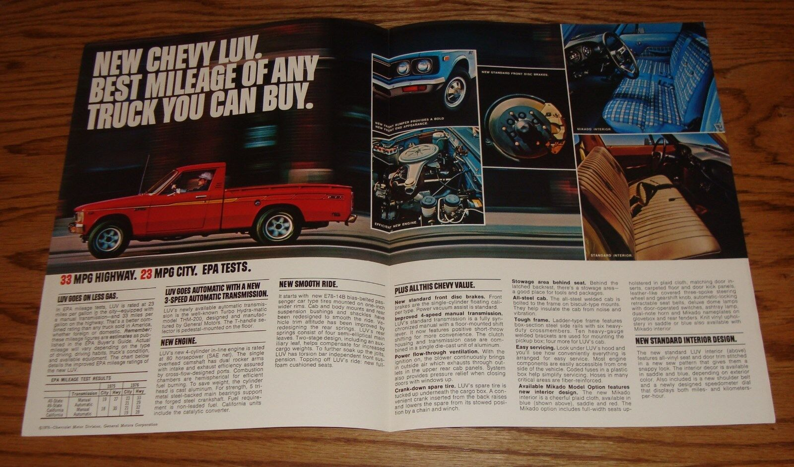 Original 1976 Chevrolet Truck Luv Sales Brochure 76 Chevy 700 1980 Specs 2 Of See More