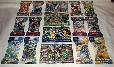Really Great Lot of 28 Pokemon Booster Packs / ALL 10 Card Packs / NEW / SEALED