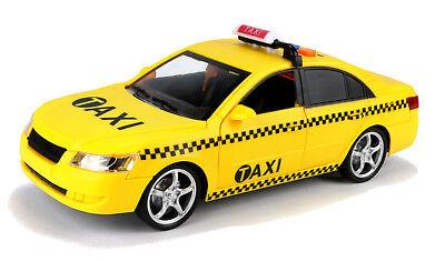XL Yellow Taxi Modellauto mit Licht & Sound 25cm großes gelbes Taxi Spielzeug