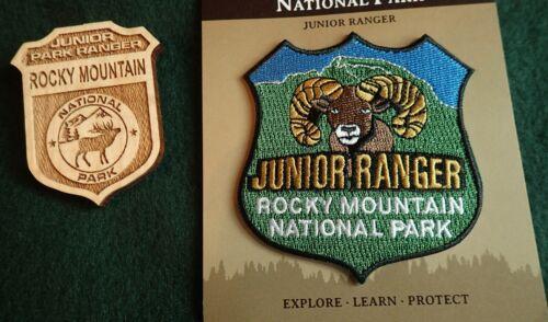 Rocky Mountain National Park Junior Ranger Wood Badge & Junior Ranger Patch NEW!