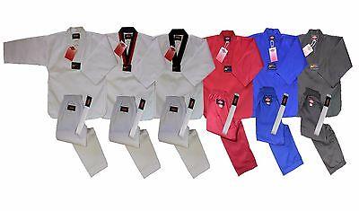 Light Weight Taekwondo Uniform Gi White W  White Belt Tae Kwon Do New