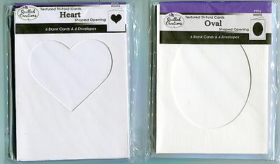 Oval Window Card (Blank Cards + Envy-TRI -FOLD Textrured-6pk-Pick OVAL or HEART Shape)