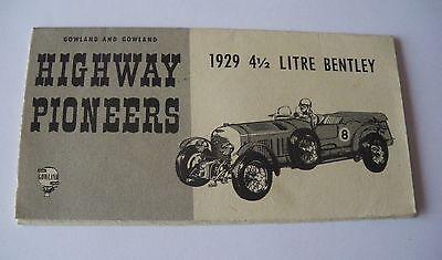 753 Revell H63 89 Highway Pioneers Pieghevole 6 Pagine Bentley 1929 Lm