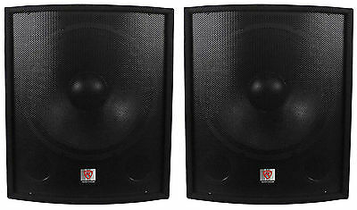 "(2) New Rockville SBG1188 18"" 2000 Watt Passive Pro DJ Subwoofers Subs"