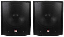"""(2) New Rockville SBG1188 18"""" 2000 Watt Passive Pro DJ Subwoofers Subs"""