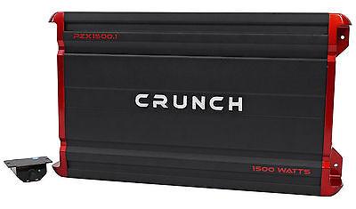 Crunch PZX1500.1 1500 Watt Mono Class A/B Car Audio Amplifier Stereo Amp