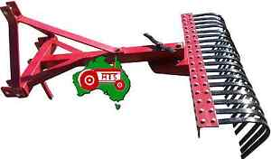 Tractor Landscape / Stick Rake 4 Foot 3-Point Linkage Cat 1
