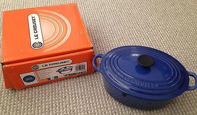 Le Creuset 2 3/4 Qt Oval #23 Casserole Dutch Oven Cobalt Blue RETIRED COLOR