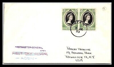 GP GOLDPATH: ADEN COVER 1953 FIRST DAY COVER _CV676_P03