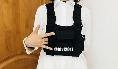 Chest Harness Chest Front Pack Pouch Holster Vest Rig For Motorola Baofeng Radio