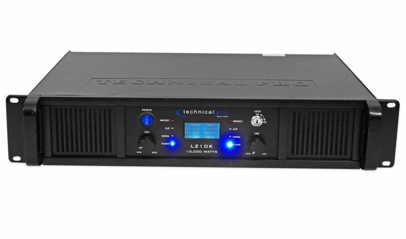 Technical Pro LZ10K Professional 10,000W 2-Ch Amplifier w/ LCD Display+Key Lock