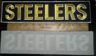 LARGE Pittsburgh STEELERS Patch 13.75 inches long Additional patches ship FREE