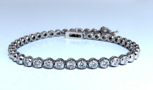 2.40ct Natural Diamonds Tennis Bracelet 14kt Gold Classic Bezel Mount