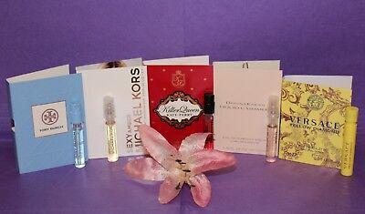 5 Designer Perfume Sample Lot:  Versace, Katy Perry, Tory Burch, Michael Kors +