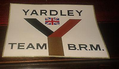 Original Yardley Team BRM formula one team sticker 1970