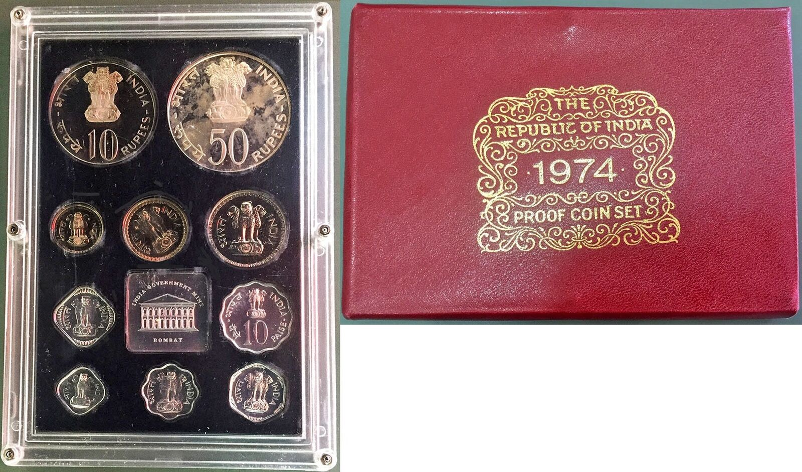 1974 Proof Sets in Sealed Box From U S Mint 5 Proof Sets In Box