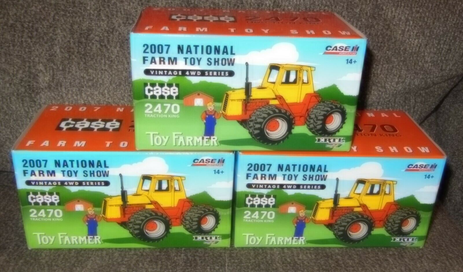 1 Case 2470 4WD Series 2007 National Farm Toy Show Tractor 1/64 Ertl