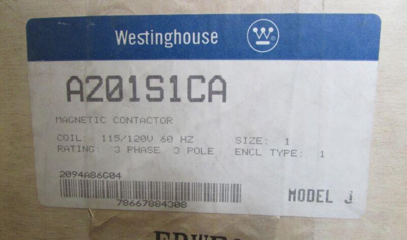 Westinghouse Cutler Hammer A201S1CA NEMA 1 Enclosure w/ A201K1CA Contactor